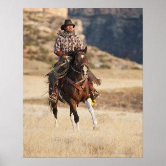 Jinete de lomo de caballo 7 póster