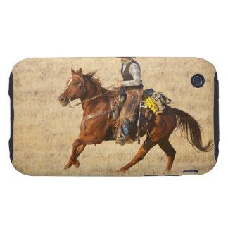Jinete de lomo de caballo 8 tough iPhone 3 carcasas