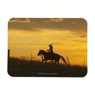 Jinete de lomo de caballo 9 iman de vinilo