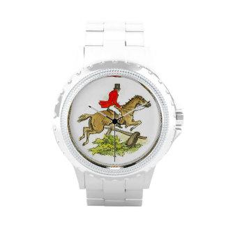Jinete de lomo de caballo de la caza de Fox del ca Reloj