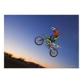 """Jinete de Motorcross Invitación 5"""" X 7"""""""
