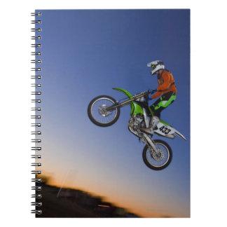 Jinete de Motorcross Libreta Espiral