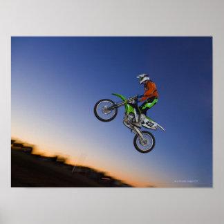 Jinete de Motorcross Póster