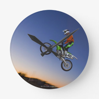 Jinete de Motorcross Relojes De Pared
