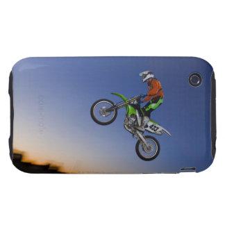 Jinete de Motorcross Tough iPhone 3 Coberturas