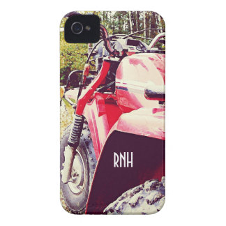 Jinete de Trike - ATC rojo Blackberry del policía Case-Mate iPhone 4 Funda
