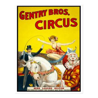 Jinete de truco del circo, 1920 tarjetas postales