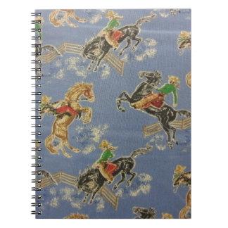 Jinete del Bronc de la vaquera Cuaderno