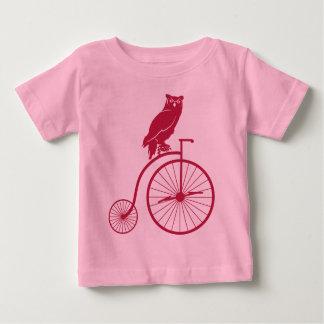 Jinete del búho en la bici del vintage remera