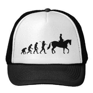 Jinete del caballo gorro de camionero