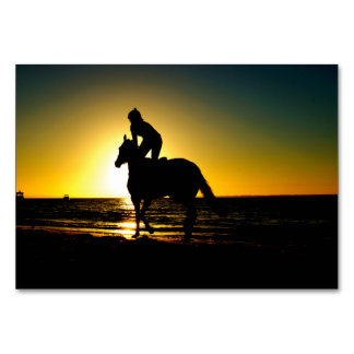 Jinete del caballo, playa, paisaje hermoso de la