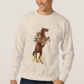 Jinete del caballo salvaje sudadera con capucha