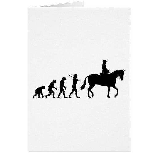 Jinete del caballo tarjeta de felicitación