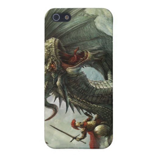 Jinete del dragón, caso del iPhone 4 iPhone 5 Funda