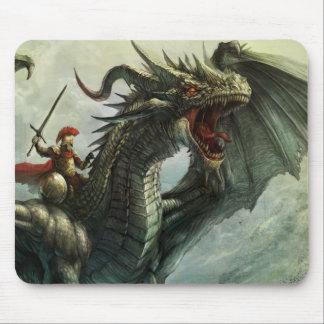 Jinete del dragón, cojín de ratón alfombrilla de ratones