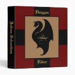 Jinete del dragón de nuevo a monograma de la escue