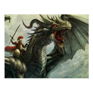 Jinete del dragón, postal