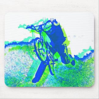 Jinete del estilo libre BMX en estilo fresco del a Alfombrilla De Ratones
