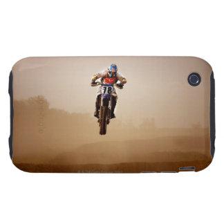Jinete del motocrós iPhone 3 tough protectores