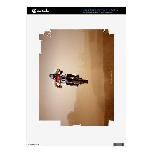 Jinete del motocrós iPad 3 pegatina skin