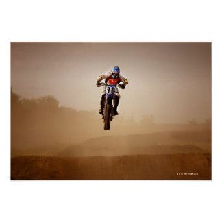 Jinete del motocrós impresiones