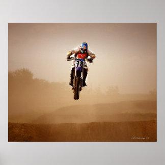 Jinete del motocrós poster