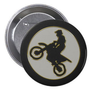 Jinete del motocrós pin redondo 7 cm