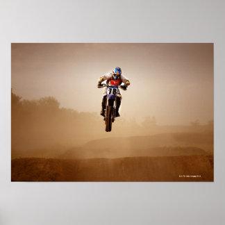 Jinete del motocrós póster