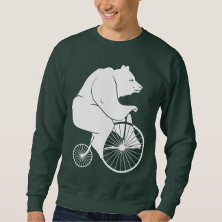 Jinete del oso en la bici del comino del penique suéter
