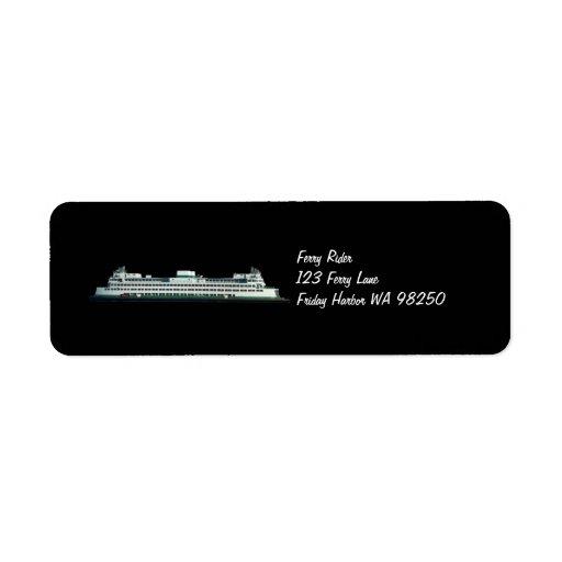 Jinete del transbordador etiqueta de remite