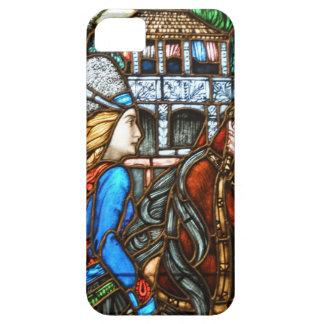 Jinete del vitral de Nouveau del arte iPhone 5 Case-Mate Cobertura