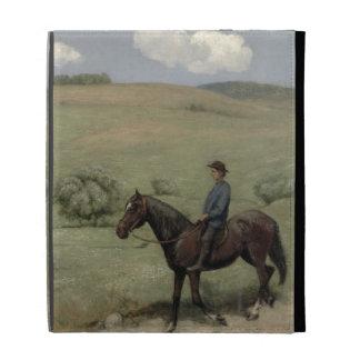 Jinete en un paisaje, 1894 (aceite a bordo)