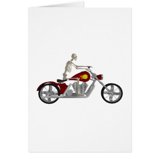 Jinete esquelético del motorista/de la bici: model tarjeta