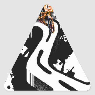 Jinete extremo de BMX Pegatina Triangular