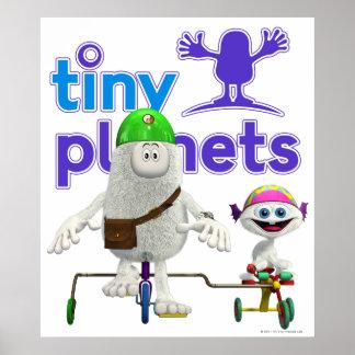 Jinete fácil de los planetas minúsculos poster