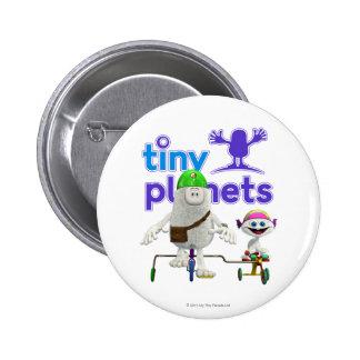 Jinete fácil de los planetas minúsculos pin redondo de 2 pulgadas