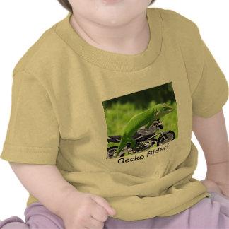 Jinete hawaiano verde del Gecko Camisetas