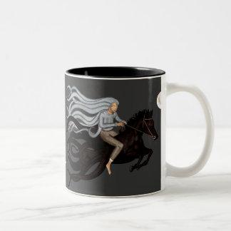 Jinete ideal taza de dos tonos