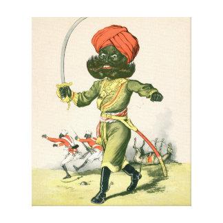 Jinete indio lona envuelta para galerías