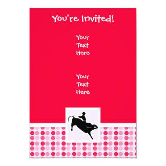 Jinete lindo de Bull Invitación 12,7 X 17,8 Cm