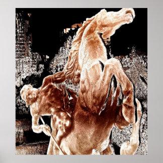 Jinete mítico del caballo poster