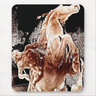 Jinete mítico del caballo tapete de ratón