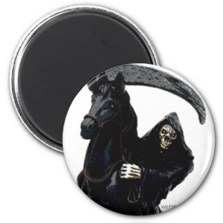 Jinete negro del parca por Valpyra Imán Redondo 5 Cm