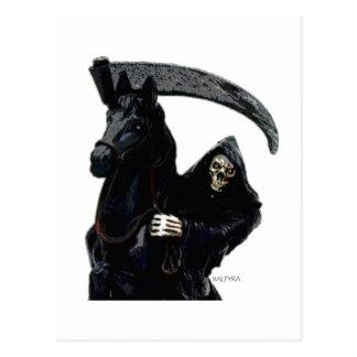 Jinete negro del parca por Valpyra Postal