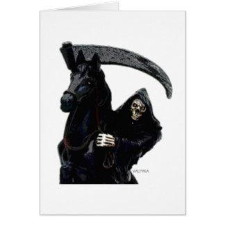Jinete negro del parca por Valpyra Tarjeta De Felicitación