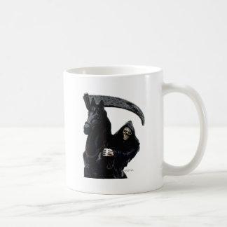 Jinete negro del parca por Valpyra Tazas De Café