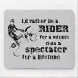 Jinete para un motocrós minucioso Mousepad de la b Tapete De Raton