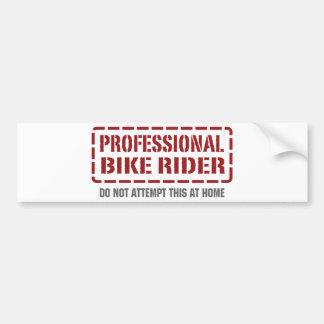 Jinete profesional de la bici pegatina de parachoque