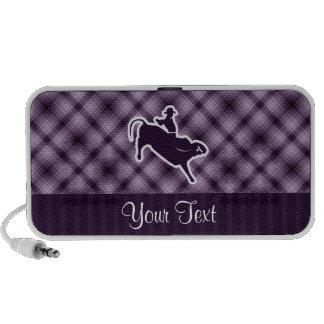 Jinete púrpura de Bull Notebook Altavoz