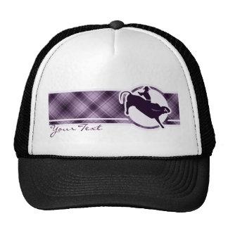 Jinete púrpura de Bull Gorras De Camionero